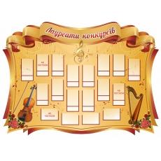 Стенд для музичного кабінету «Лауреати конкурсів»