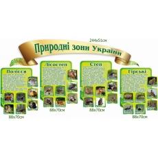 """Комплект стендів """"Природні зони України"""""""