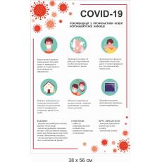 """Стенд """"Коронавірус COVID-19"""""""