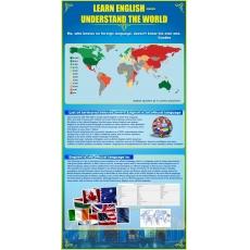 Пластиковий стенд для кабінету іноземної мови